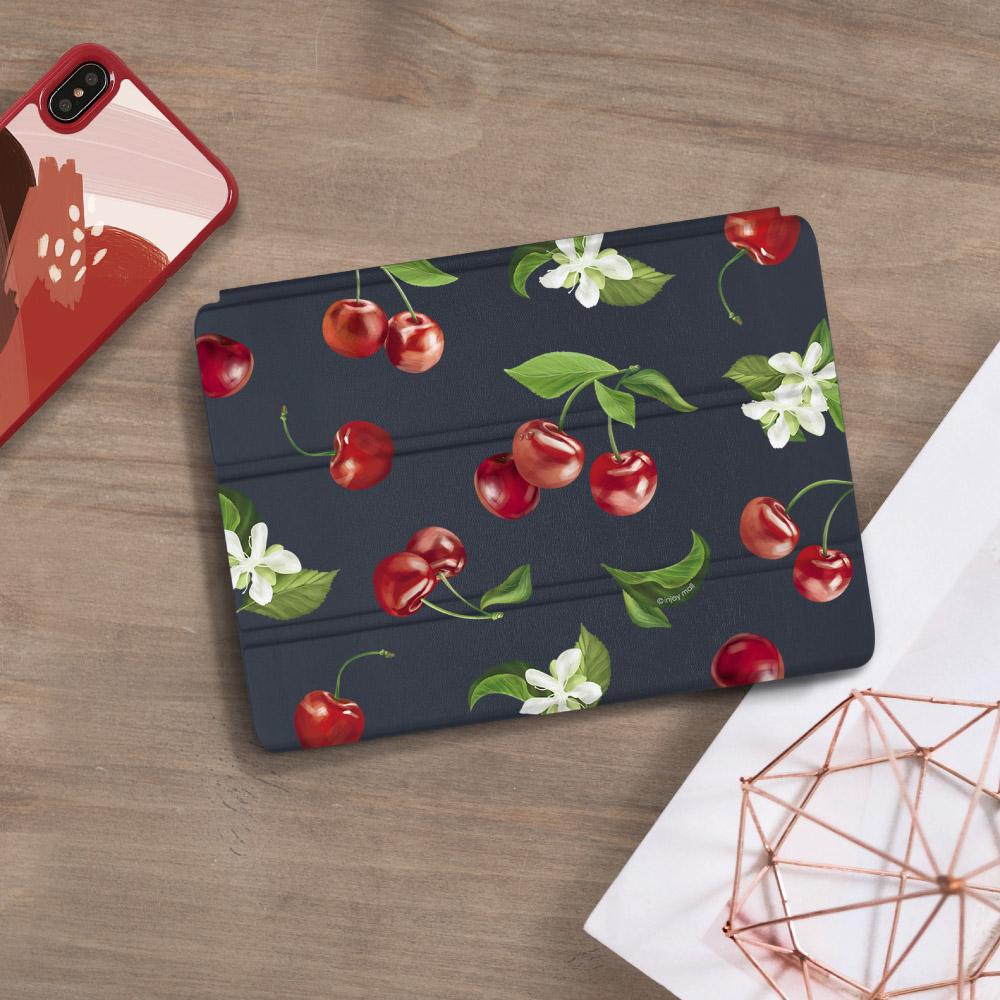 INJOY mall|iPad 9.7 2018 系列 香甜櫻桃 Smart cover皮革平板保護套
