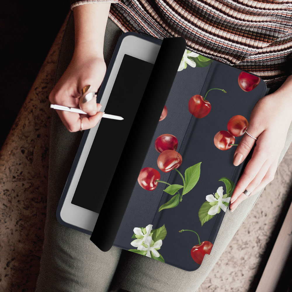 INJOY mall iPad Pro 12.9 2017 系列 香甜櫻桃 Smart cover皮革平板保護套