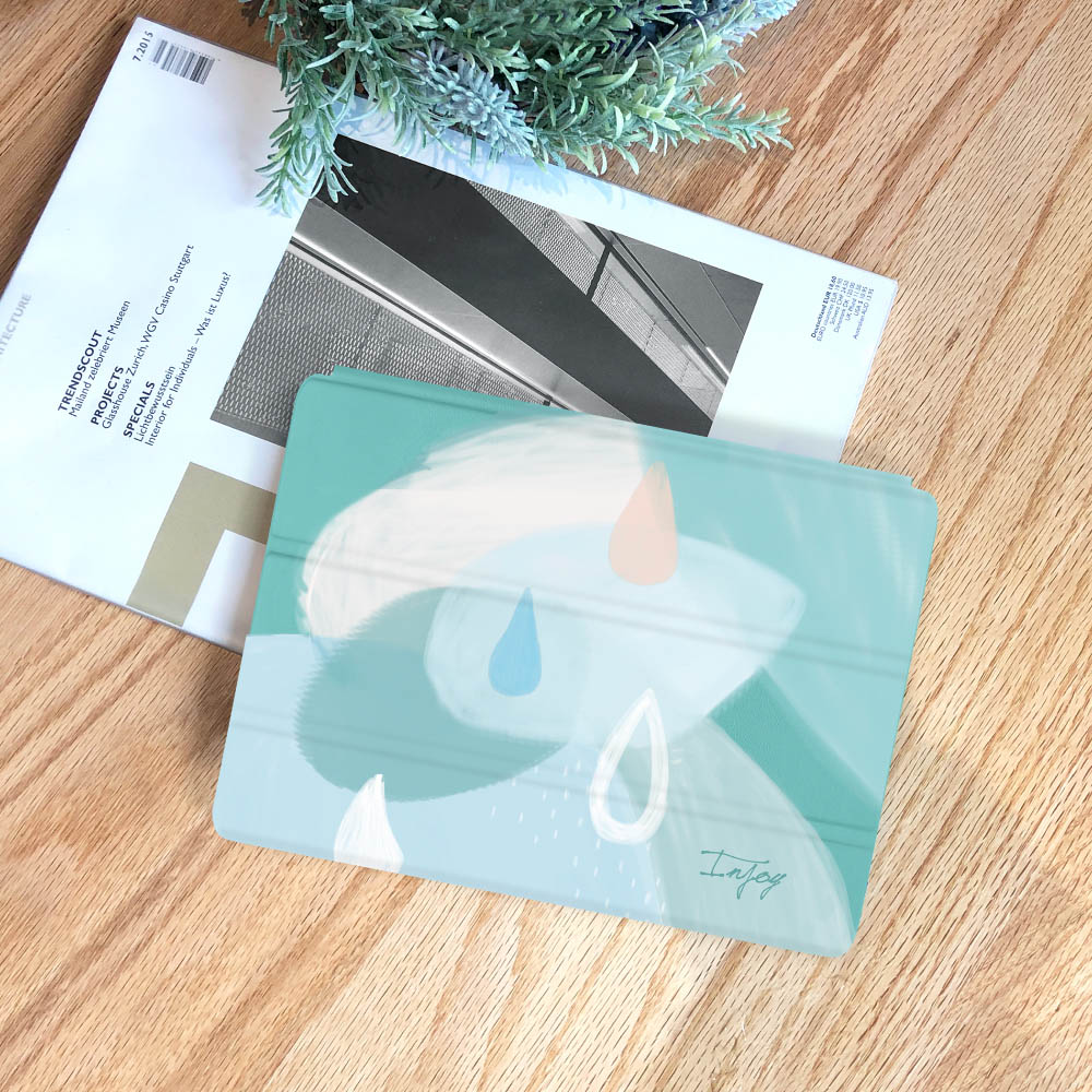 INJOY mall|iPad  9.7 2018 系列 寧靜的雨天 Smart cover皮革平板保護套
