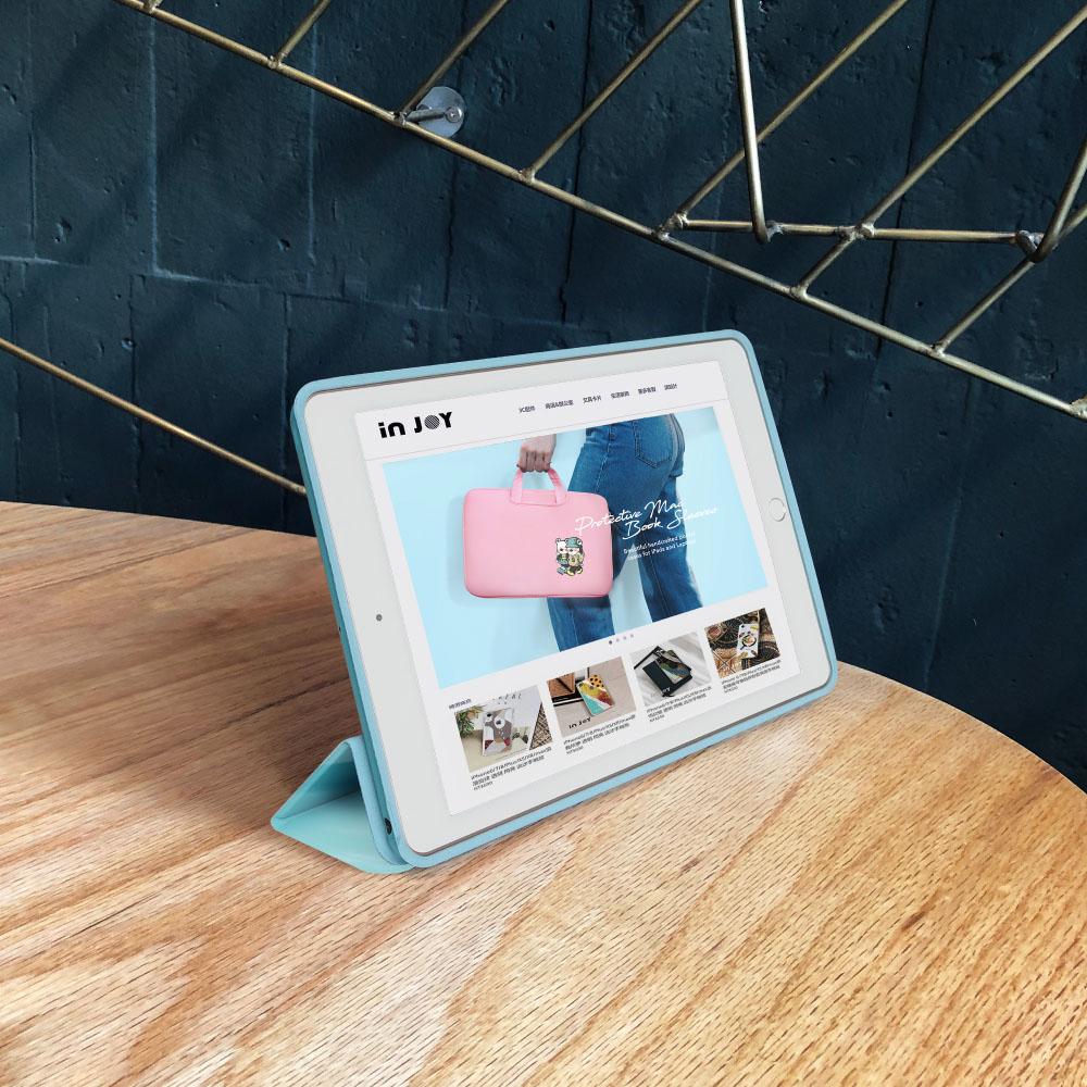 INJOY mall|iPad  9.7 2018 系列 寧靜的雨 Smart cover皮革平板保護套