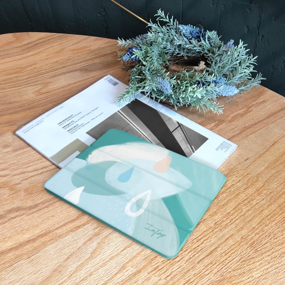 INJOY mall iPad  9.7 2017 系列 寧靜的雨天 Smart cover皮革平板保護套