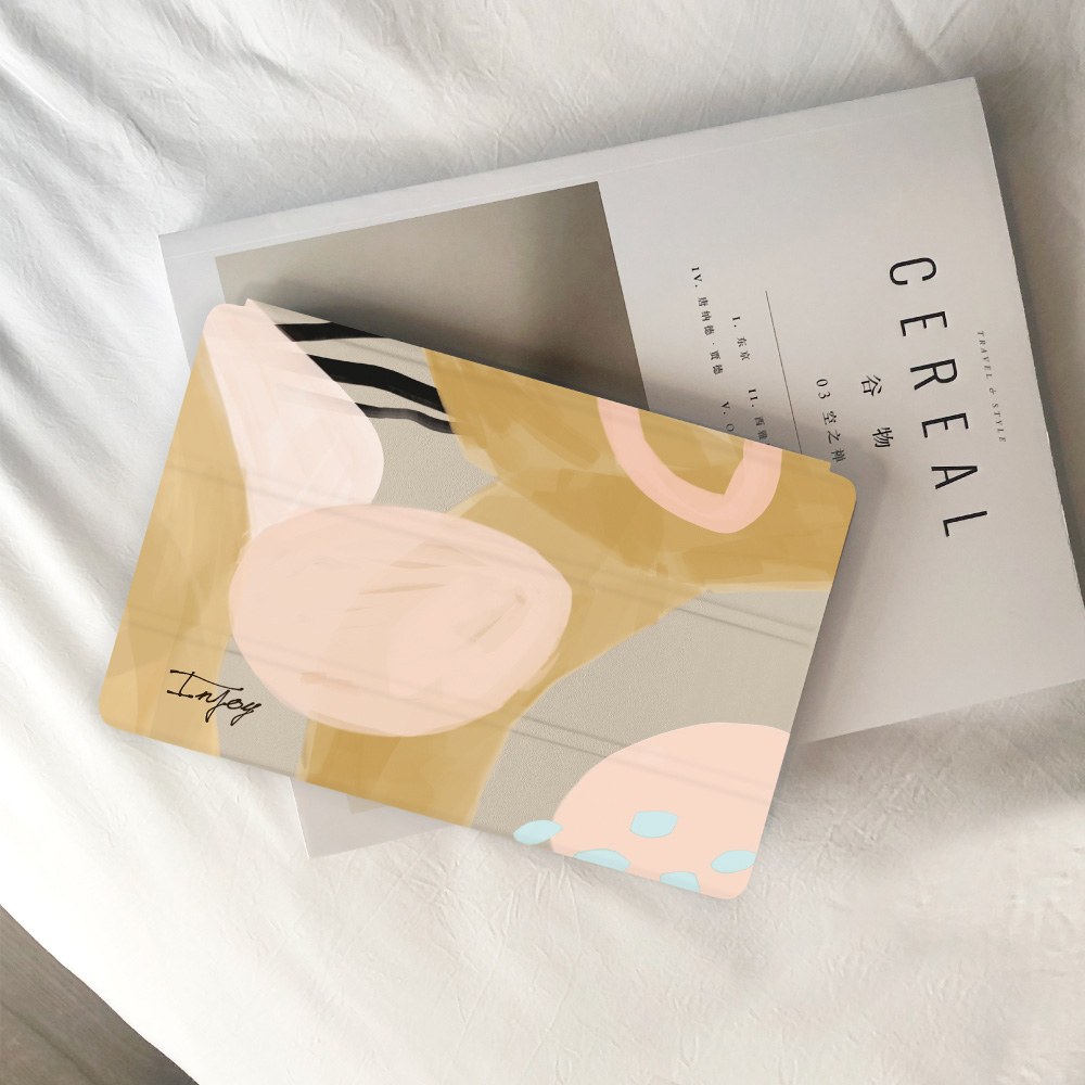 INJOY mall|iPad Pro 12.9 2017 系列 奶茶色的慵懶 Smart cover皮革平板保護套