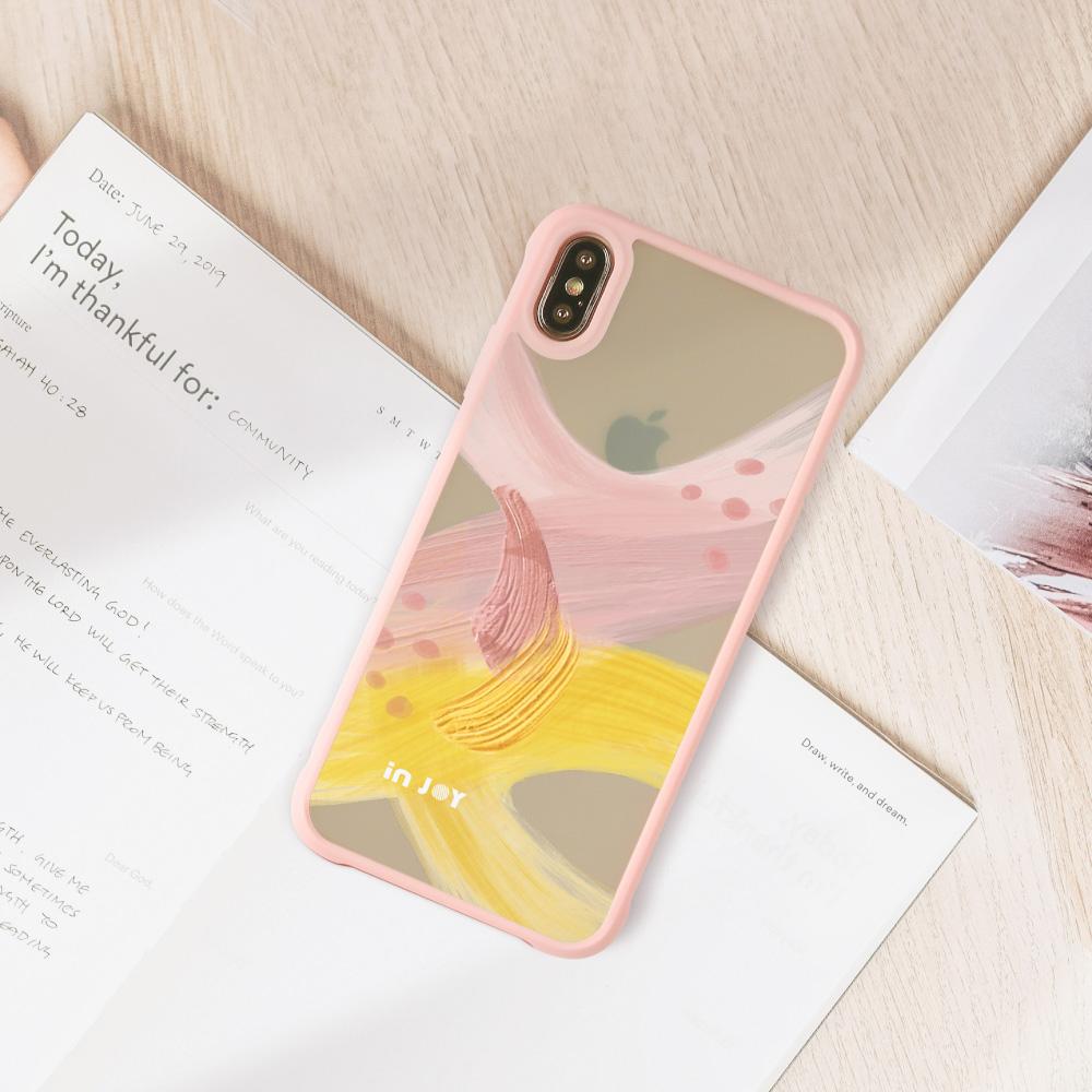 INJOY mall|iPhone 7/8/Plus/X/XS/XR/max/11 pro/11 max 戀愛氣息 耐撞擊磨砂邊框手機殼