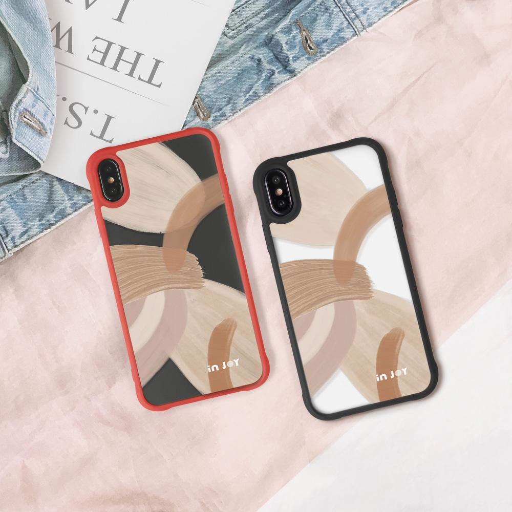 INJOY mall|iPhone 7/8/Plus/X/XS/XR/max/11 pro/11 max 淡雅自信 耐撞擊磨砂邊框手機殼