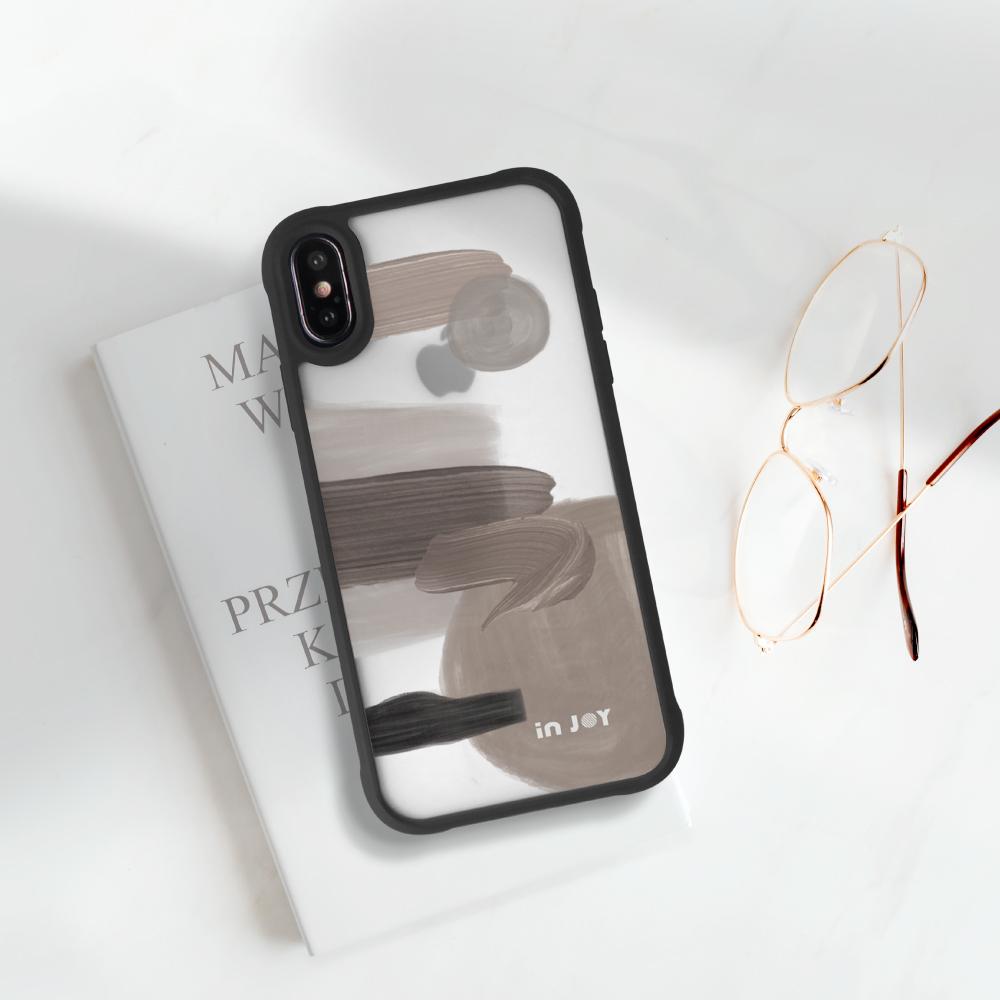 INJOY mall|iPhone 7/8/Plus/X/XS/XR/max/11 pro/11 max 品味好感 耐撞擊磨砂邊框手機殼