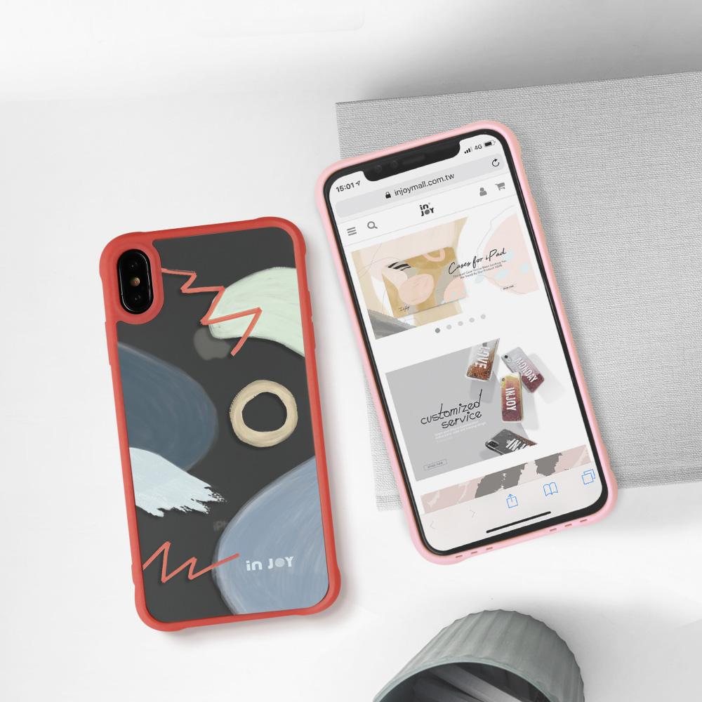 INJOY mall|iPhone 7/8/Plus/X/XS/XR/max/11 pro/11 max 陽光朝氣 耐撞擊磨砂邊框手機殼