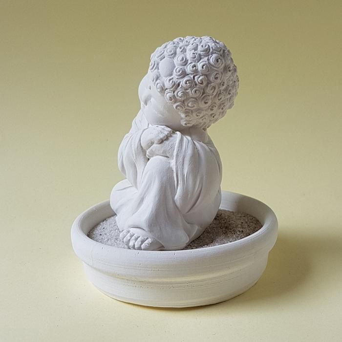 (複製)創藝皂學|淨念吉祥小佛之靜性  珪藻土擴香石小盤套組