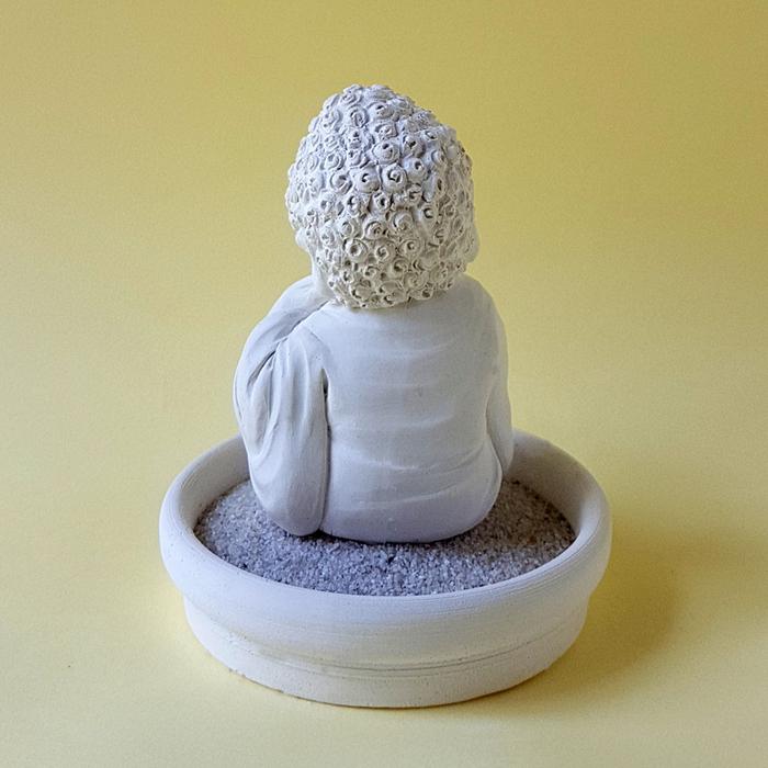 (複製)創藝皂學|淨念吉祥小佛之觀音  珪藻土擴香石小盤套組