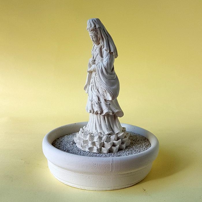 (複製)創藝皂學 淨念吉祥小佛之大覺  珪藻土擴香石小盤套組
