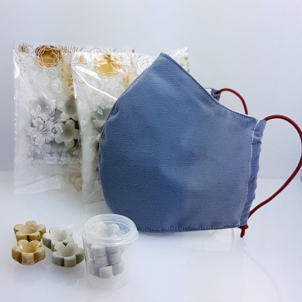 創藝皂學|3D 立體防潑水布口罩隨身皂套組