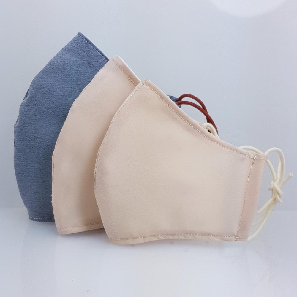 創藝皂學|3D 立體防潑水布兒童版 象牙色口罩隨身皂套組