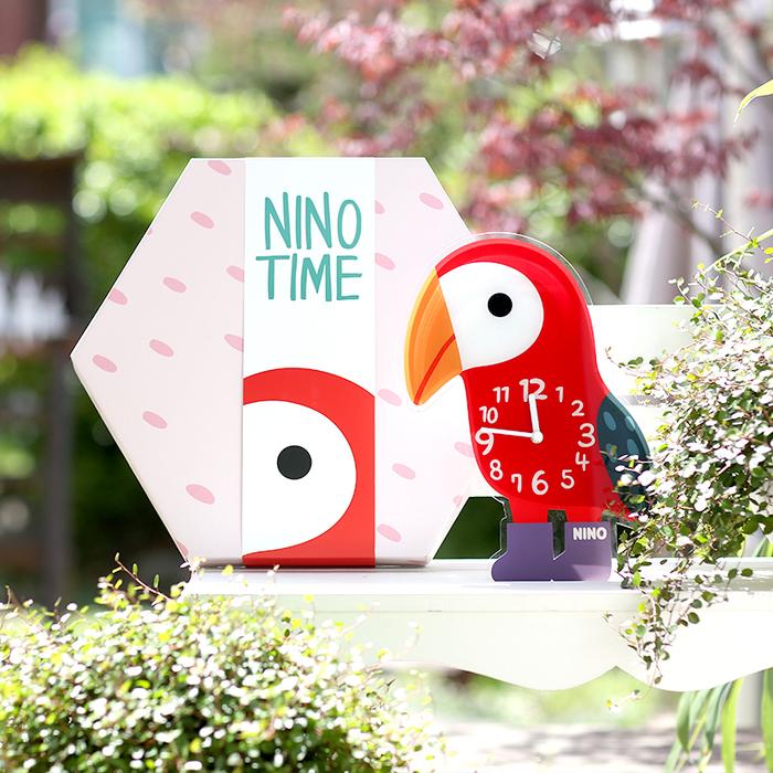 韓國NINO|HapPy TimE童趣時鐘-鸚木花道