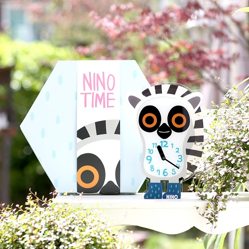 韓國NINO HapPy TimE童趣時鐘-環尾小狐猴