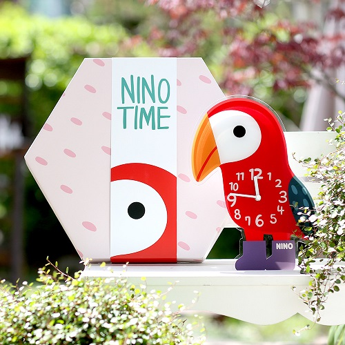 韓國NINO|HapPy TimE童趣時鐘-鸚木花道