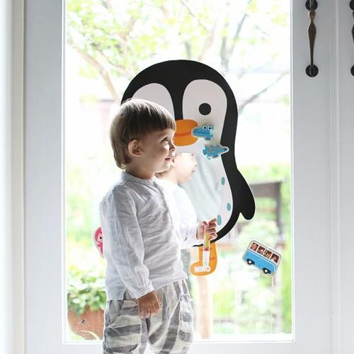 韓國NINO|兒童彩繪壁貼鏡-QQ酷企鵝