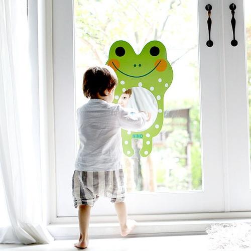 韓國NINO|兒童彩繪壁貼鏡-微笑大眼蛙