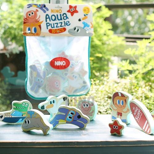 韓國NINO|立體拼圖洗澡玩具-海底世界