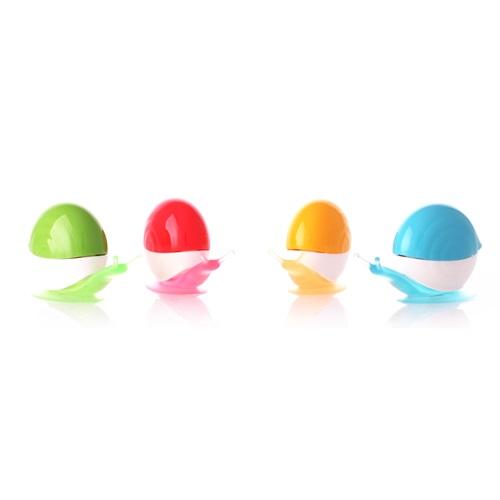韓國Xivestory|炫彩蝸牛牙刷架4入組-(紅,黃,藍,綠四色)