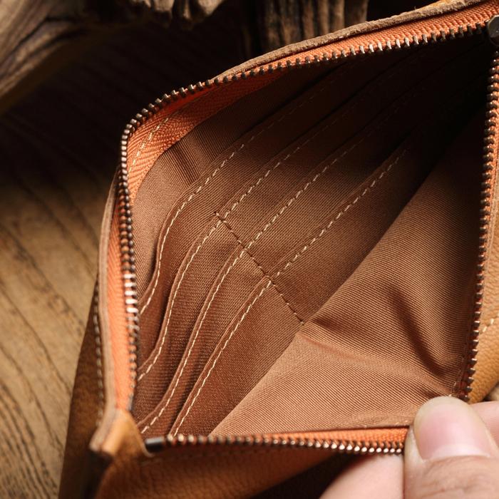 (複製)SoLoMon|真皮牛革立體縫線橫式短夾(2色可選)