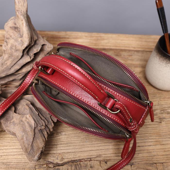 SoLoMon| 雙拉鍊皮革手提側背包 (6色可選)