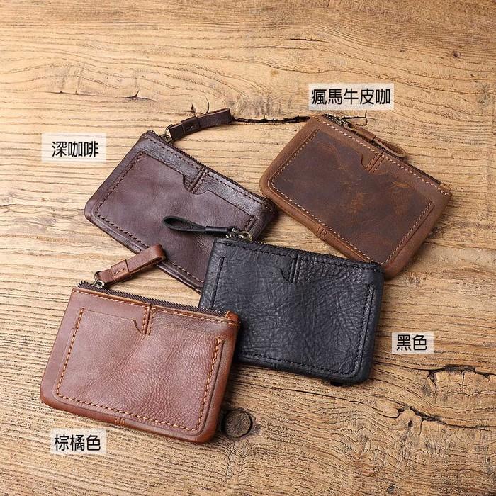 SoLoMon|牛皮革卡片 零錢包(4色可選)