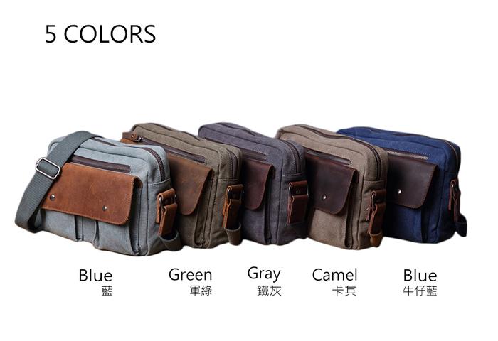 (複製)SoLoMon 牛皮革機能帆布後背包(4色可選)