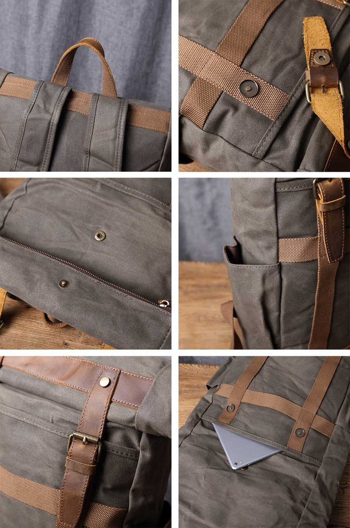 SoLoMon|皮革機能帆布(4色可選)