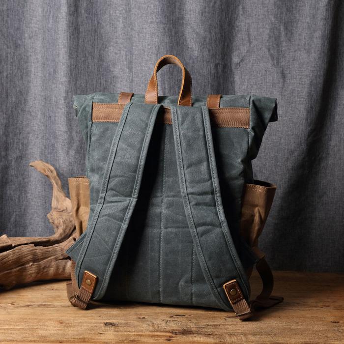 SoLoMon|皮革機能帆布公事包 附側背帶(4色可選)