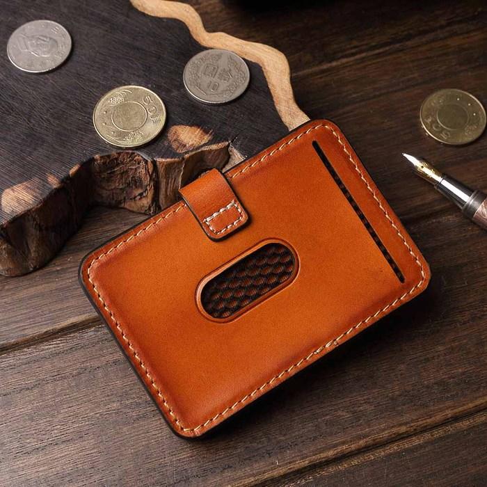 (複製)SoLoMon|黑麋鹿 簡約真皮牛革 卡片零錢包