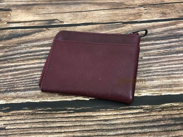 SoLoMon 黑麋鹿 簡約真皮牛革 卡片零錢包