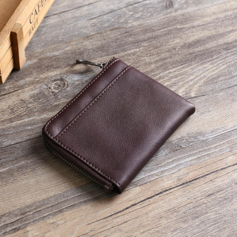 SoLoMon|黑麋鹿 簡約真皮牛革 卡片零錢包