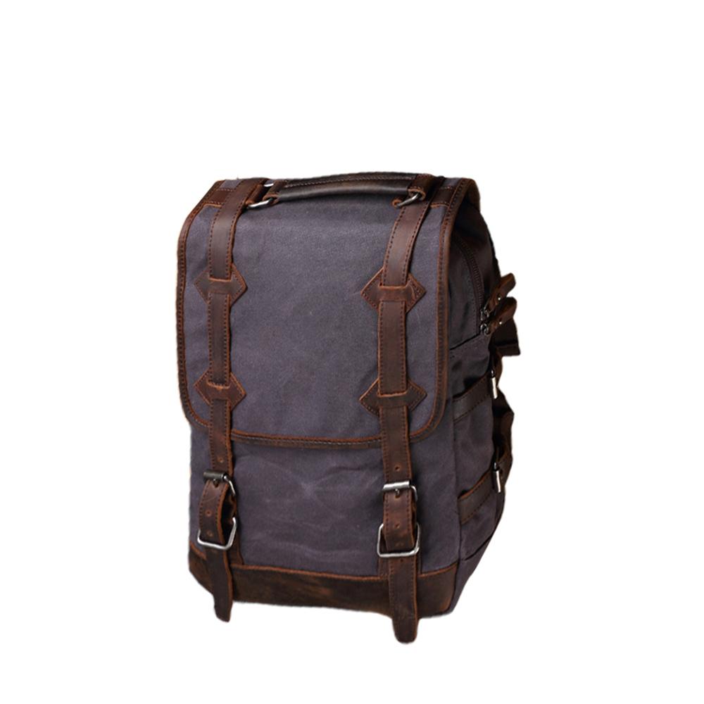 SoLoMon|皮革機能帆布大容量後背包(4色可選)