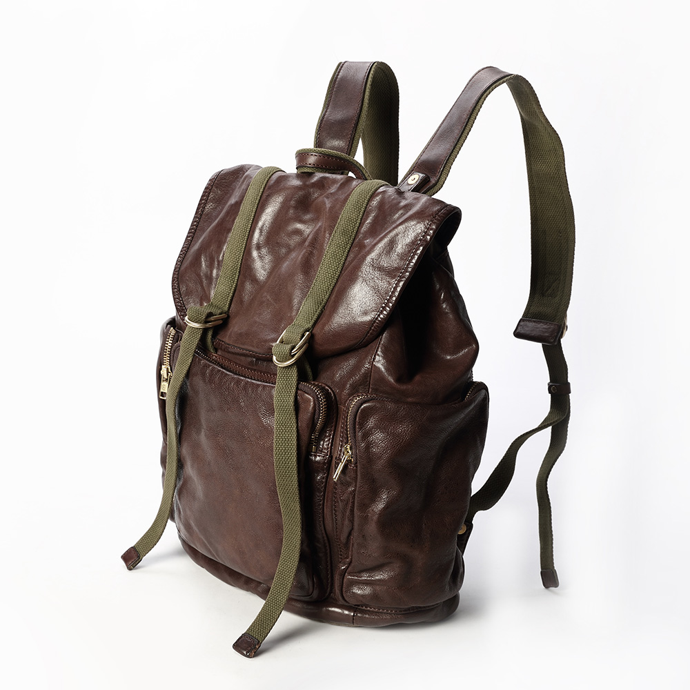 SoLoMon|真皮義大利牛革旅行後背包
