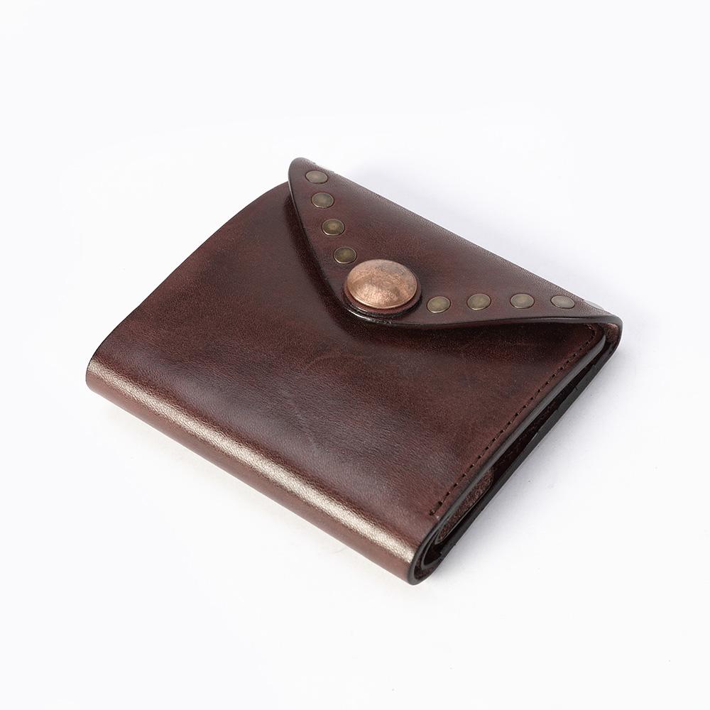 SoLoMon|真皮牛革三折短夾 / 零錢袋