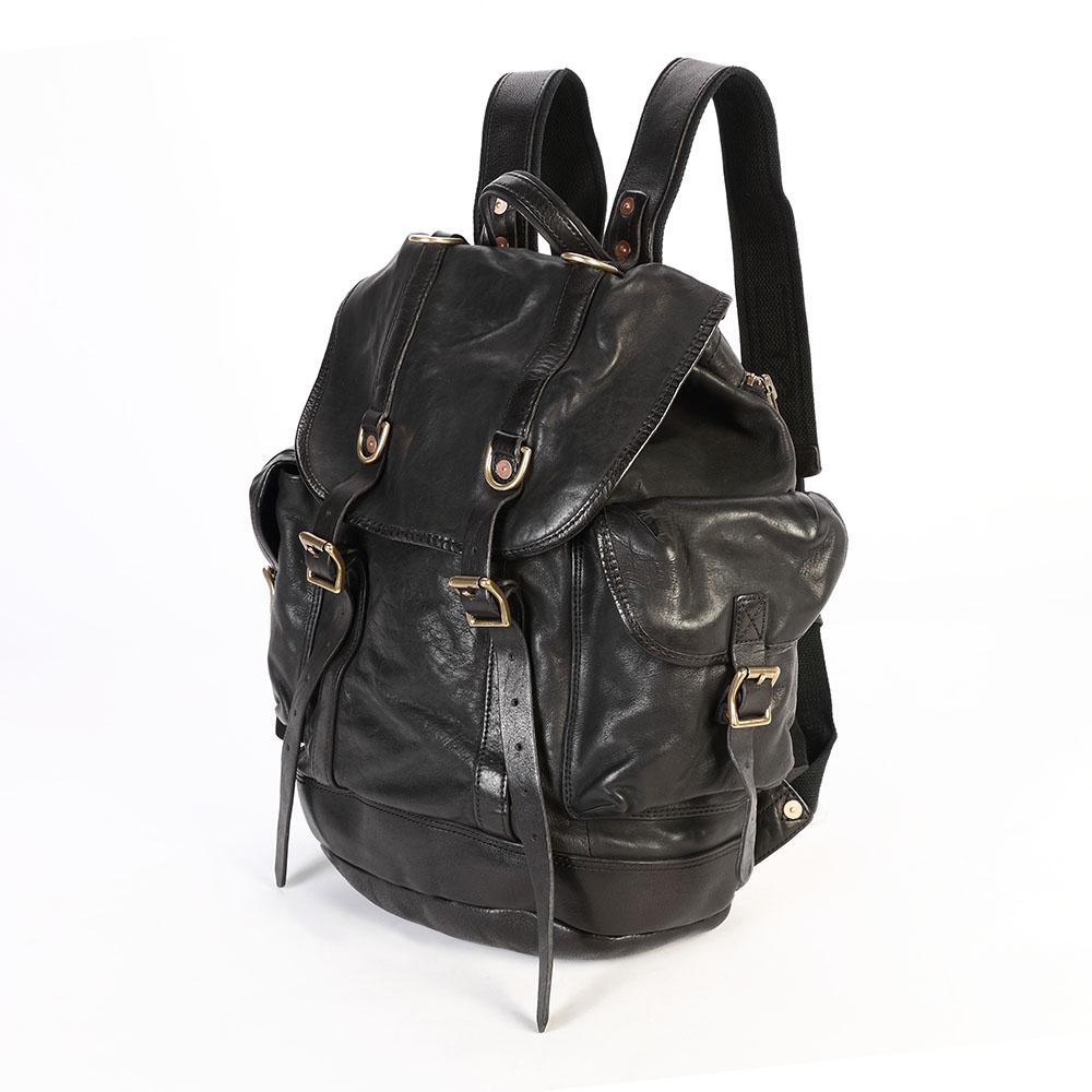 SoLoMon|水洗牛革大容量旅行後背包(6色可選)