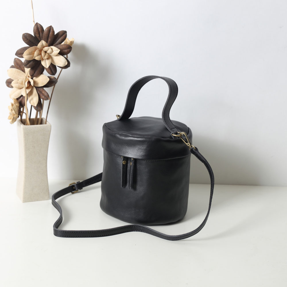 SoLoMon|晴日 牛皮桶包 野餐包(5色可選)