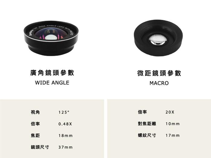 Bomgogo|Govision L6 combo 極輕量廣角微距手機鏡頭組 37mm
