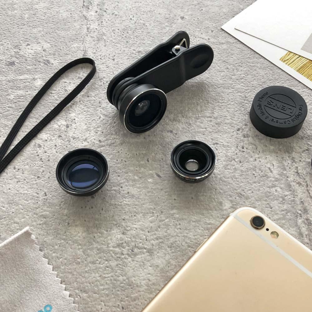 Bomgogo|Govision L2 Pro 廣角/魚眼/微距 3合1手機萬用鏡頭組