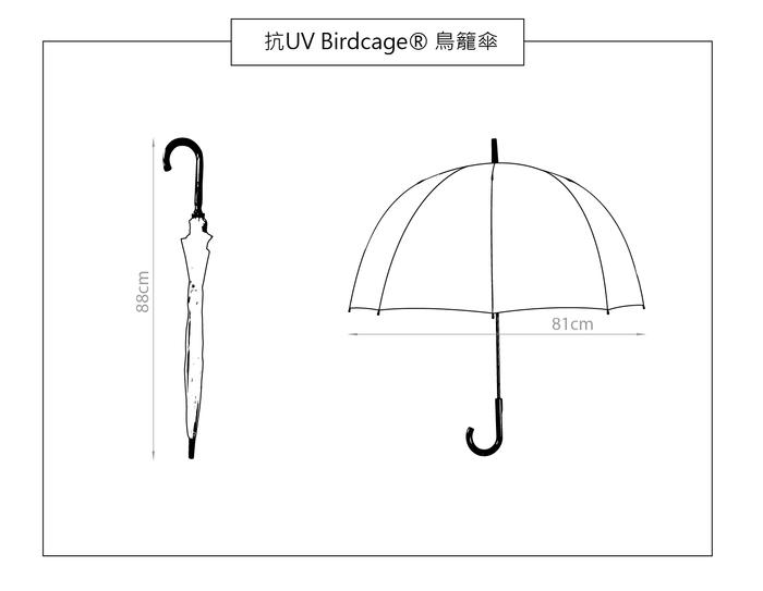 Fulton富爾頓|抗UV鳥籠傘-胭脂紅
