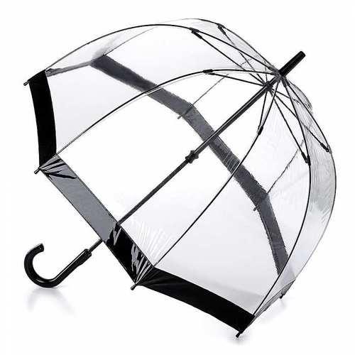Fulton富爾頓 鳥籠傘-時尚黑