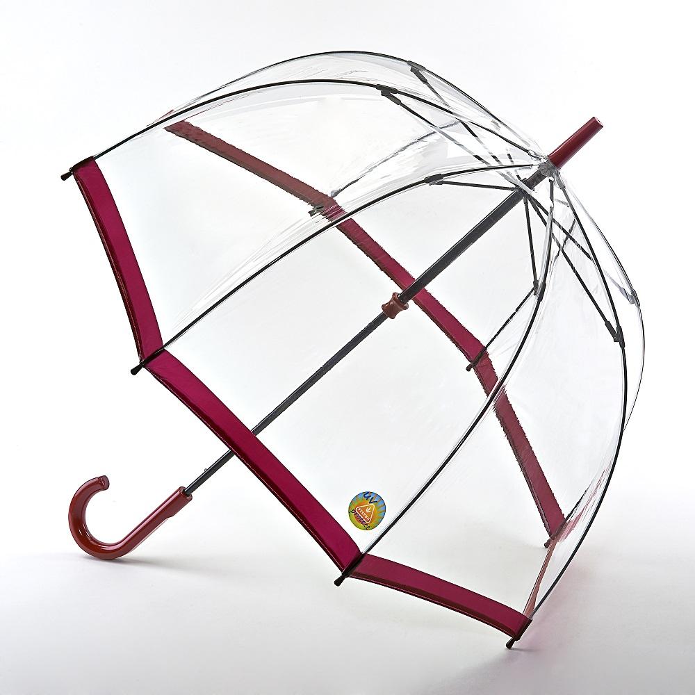 Fulton富爾頓 抗UV鳥籠傘-胭脂紅