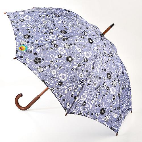 Fulton富爾頓|抗UV 肯辛頓長傘-藍天花朵