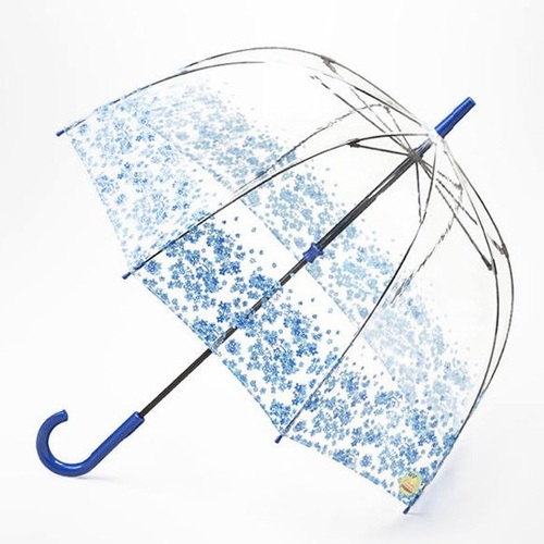 Fulton富爾頓|抗UV鳥籠傘-水藍捧花