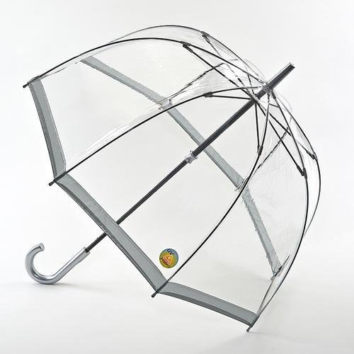 Fulton富爾頓|抗UV鳥籠傘-百搭銀