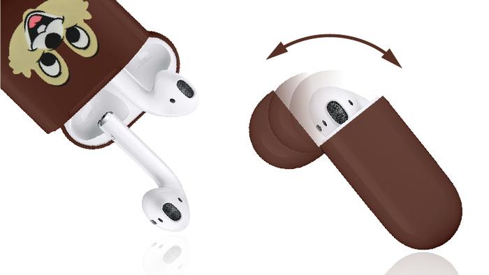 (複製)CAMINO   迪士尼正版授權-AirPods硬式保護套 - 奇奇與蒂蒂 - 蒂蒂款