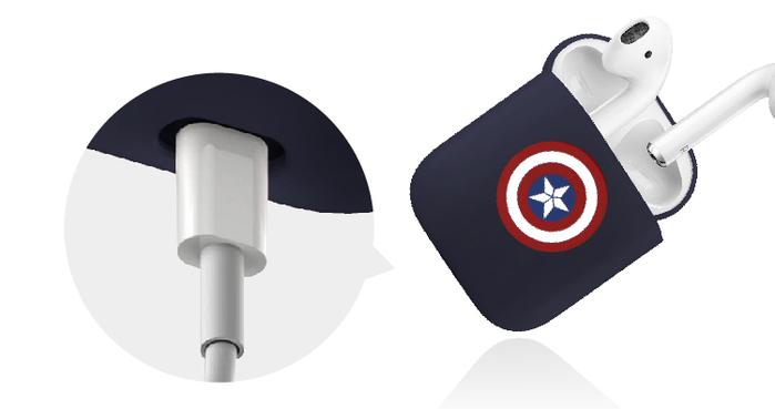 CAMINO | 復仇者聯盟AirPods硬式保護套 - 美國隊長(紅藍)
