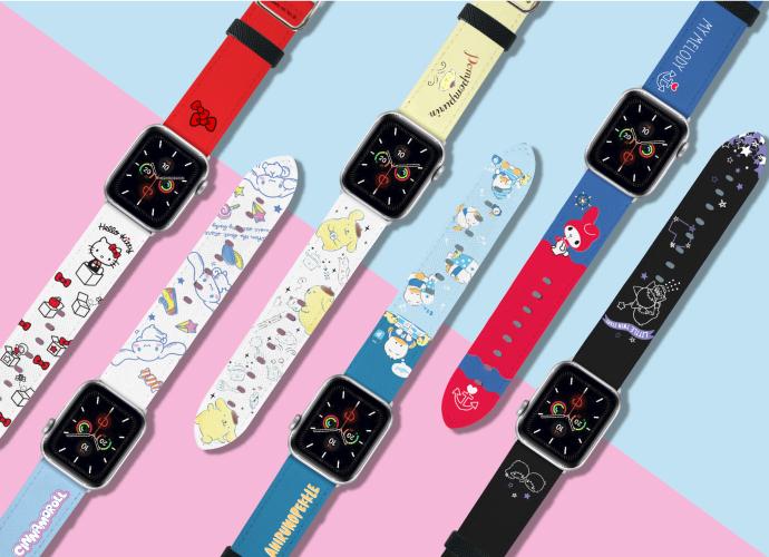 HongMan | 三麗鷗系列 Apple Watch 皮革錶帶 Hello Kitty 42/44mm
