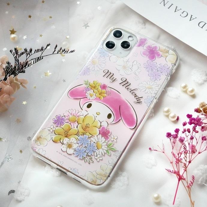 HongMan|三麗鷗系列  iPhone手機殼套裝組 美樂蒂 花兒朵朵