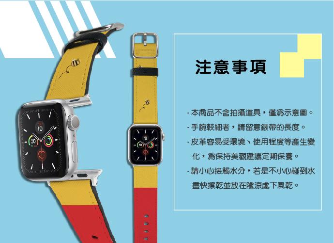 HongMan|迪士尼系列 Apple Watch 皮革錶帶 貝克鴨 經典米奇 42/44mm