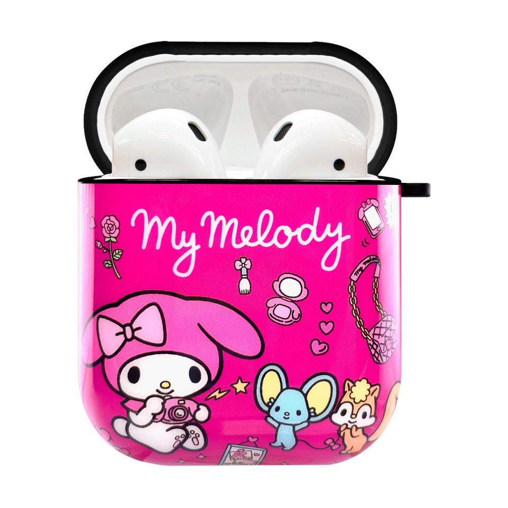HongMan|三麗鷗系列 AirPods防塵耐磨保護套 美樂蒂 少女玩具